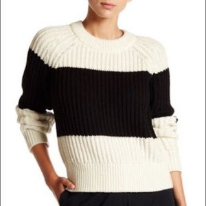 kate spade Chunky Striped black White Sweater M